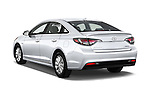 Car pictures of rear three quarter view of 2016 Hyundai Sonata Hybrid SE 4 Door Sedan Angular Rear