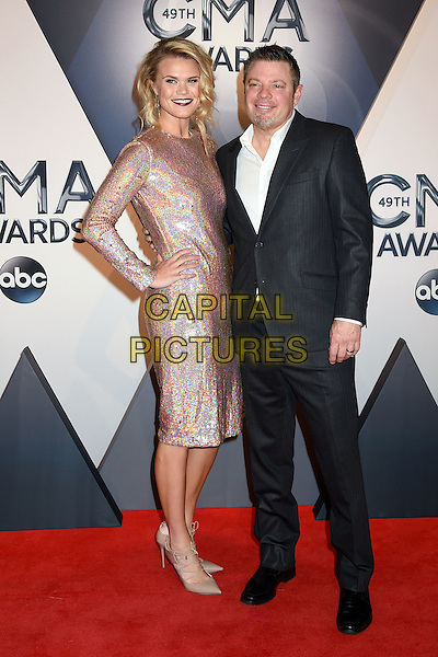 4 November 2015 - Nashville, Tennessee - Nicolle Galyon, Rodney Clawson. 49th CMA Awards, Country Music's Biggest Night, held at Bridgestone Arena. <br /> CAP/ADM/LF<br /> &copy;LF/ADM/Capital Pictures