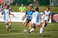 Kansas City, MO - Wednesday August 16, 2017: Brittany Ratcliffe during a regular season National Women's Soccer League (NWSL) match between FC Kansas City and the Orlando Pride at Children's Mercy Victory Field.
