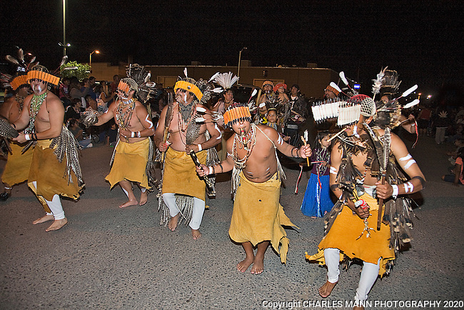 The Gallup 90th Intertribal Ceremonial features many different tribes participating in a number of events and ceremonies. The Night Parade was held on Thursday August 11. The Miwok tribe originally came from the Marin County area of California.