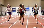 NAPERVILLE, IL - MARCH 11: Chante Moore of Gwynedd-Mercy finishes the 400 Dash at the Division III Men's and Women's Indoor Track and Field Championship held at the Res/Rec Center on the North Central College campus on March 11, 2017 in Naperville, Illinois. (Photo by Steve Woltmann/NCAA Photos via Getty Images)
