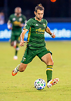 13th July 2020, Orlando, Florida, USA;  Portland Timbers midfielder Diego Valeri (8) shoots during the MLS Is Back Tournament between the LA Galaxy versus Portland Timbers on July 13, 2020 at the ESPN Wide World of Sports, Orlando FL.