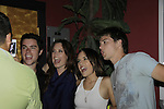 Eddie Alderson, Melissa Archer, Kristen Alderson, Chad Duell at 15th Southwest Florida Soapfest 2014 Charity Weekend with a Bartending/Karaoke get together on May 26, 2104 at Porky's, Marco Island, Florida. (Photo by Sue Coflin/Max Photos)