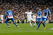 1st October 2017, Santiago Bernabeu, Madrid, Spain; La Liga football, Real Madrid versus Espanyol; Marco Asensio (20) Real Madrid takes a shot on goal