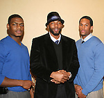OLTL Tobias Truvillion with GL's Lawrence Saint-Victor and his friend Jason Moore (L) at the 2nd Annual AHEAD - Saving Lives Today - Sustaning Communities Tommorow - fundraising dinner on December 4, 2008 at the River Room, New York City, New York. MIssion of AHEAD is to work with underserved communities in developing countries to improve the quality of life by implrmenting programs that lead to seof-sufficiency and self-reliance. (Photo by Sue Coflin/Max Photos)