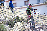 Chelva, SPAIN - MARCH 6: Daniel Vieco during Spanish Open BTT XCO on March 6, 2016 in Chelva, Spain