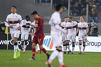 Celebration after goal of Oscar Huljemark Genoa. Goal celebration.<br /> Roma 16-12-2018 Stadio Olimpico<br /> Football Calcio Campionato Serie A<br /> 2018/2019 <br /> AS Roma - Genoa<br /> Foto Antonietta Baldassarre / Insidefoto