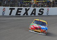 Nov. 8, 2009; Fort Worth, TX, USA; NASCAR Sprint Cup Series driver Kyle Busch during the Dickies 500 at the Texas Motor Speedway. Mandatory Credit: Mark J. Rebilas-