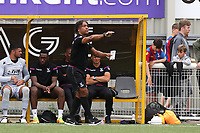Crystal Palace U23 Coach. Richard Shaw issues some instructions from the touchline during Maidstone United  vs Crystal Palace, Friendly Match Football at the Gallagher Stadium on 15th July 2017