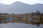 Boats on Lough Lein in Killarney in County Kerry<br /> Photo Don MacMonagle<br /> e: info@macmonagle.com