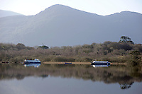 Boats on Lough Lein in Killarney in County Kerry<br /> Photo Don MacMonagle<br /> e: info@macmonagle.com