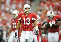 Sept. 13, 2009; Glendale, AZ, USA; Arizona Cardinals quarterback (13) Kurt Warner against the San Francisco 49ers at University of Phoenix Stadium. San Francisco defeated Arizona 20-16. Mandatory Credit: Mark J. Rebilas-