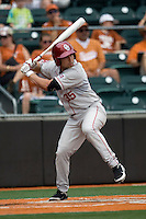 Catcher Tyler Ogle #35 of the Oklahoma Sooners at bat against the Texas Longhorns in NCAA Big XII baseball on May 1, 2011 at Disch Falk Field in Austin, Texas. (Photo by Andrew Woolley / Four Seam Images)