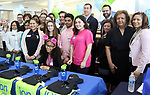 WATERBURY CT. 15 March 2018-031519SV03-Crosby High School celebrates first group of students to finish future bankers program. They will now do internships at Ion Bank, Savings Bank of Danbury, and Thomaston Savings banks. Student that participated were; Yosmeiris Castro, Brianca Chernowsky, Shafina Chowdhury, Kayla Harris, Samantha Martinez, Kejsi Ozuni, Zachary Petrarca, Nautica Schaefer, Yodesh Timaul, Isabella Wester, And Marissa White. <br /> Steven Valenti Republican-American