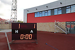 The electronic scoreboard gives the final score at the Gateshead International Stadium, the athletics stadium which is also the home ground of Gateshead FC, as the club play host to Cambridge United in a Blue Square Bet Premier division fixture. The match ended in a one-all draw, watched by a crowd of 904. The point meant Gateshead went to the top of the division, one below the Football League in England.