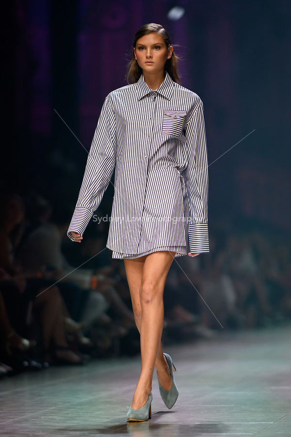 6 March 2018, Melbourne - Models showcase designs by Anna Quan during the Runway 2 show presented by Elle Magazine at the 2018 Virgin Australia Melbourne Fashion Festival in Melbourne, Australia. (Photo Sydney Low / asteriskimages.com)