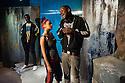 London, UK. 01.11.2012. KHADIJA TURNS 18, by Shamser Sinha, opens at the Finborough Theatre. Picture shows: Victor Alli (Ade), Aysha Kala (Khadija) and Damson Idris (Sam).  Photo credit: Jane Hobson.