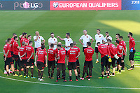 Albania's team during training session. October 5,2017.(ALTERPHOTOS/Acero)<br /> <br /> Foto Alterphotos / Insidefoto <br /> ITALY ONLY