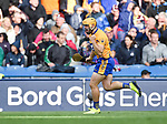 Jason Mc Carthy of Clare celebrates his equalising Point during their All-Ireland semi-final against Galway at Croke Park. Photograph by John Kelly.