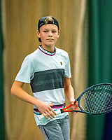 Wateringen, The Netherlands, December 8,  2019, De Rhijenhof , NOJK juniors 14 and18 years, Finals boys 14 years Abel Forger  (NED)<br /> Photo: www.tennisimages.com/Henk Koster