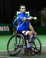 Rotterdam, The Netherlands, 14 Februari 2019, ABNAMRO World Tennis Tournament, Ahoy, Wheelchair, Half Final, Joachim Gerard (BEL),<br /> Photo: www.tennisimages.com/Henk Koster