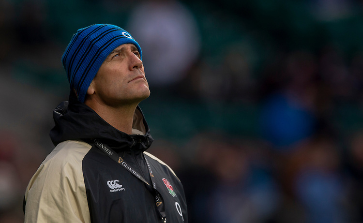Englands Defence Coach John Mitchell<br /> <br /> Photographer Bob Bradford/CameraSport<br /> <br /> Guinness Six Nations Championship - England v France - Sunday 10th February 2019 - Twickenham Stadium - London<br /> <br /> World Copyright © 2019 CameraSport. All rights reserved. 43 Linden Ave. Countesthorpe. Leicester. England. LE8 5PG - Tel: +44 (0) 116 277 4147 - admin@camerasport.com - www.camerasport.com