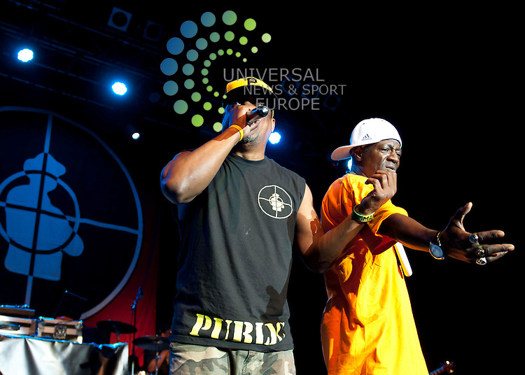 Public Enemy, the godfathers of US rap perform their celebrated third album 'Fear Of A Black Planet', which included singles 'Fight The Power' and 'Welcome To The Terrordome', live at the 02 ABC in Glasgow...Picture: Peter Copeland