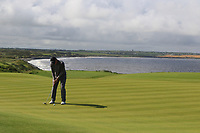 Alan Fahy (Bray) on the 10th green during Matchplay Semi-Finals of the AIG Irish Amateur Close Championship 2019 in Ballybunion Golf Club, Ballybunion, Co. Kerry on Wednesday 7th August 2019.<br /> <br /> Picture:  Thos Caffrey / www.golffile.ie<br /> <br /> All photos usage must carry mandatory copyright credit (© Golffile | Thos Caffrey)