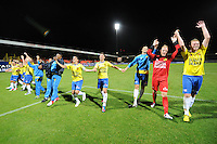 LEEUWARDEN: Cambuur Stadion, 14-09-2012, Cambuur - Almere City, Eindstand 5-2,Cambuurspelers vieren de overwinning, © foto Martin de Jong