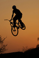 Dirt Jump silhouette.pic copyright Steve Behr / Stockfile