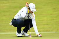 SINGAPORE - MARCH 03: Sung Hyun Park of South Korea on the 12th green during the final round of the HSBC Women's World Championship 2019 at Sentosa Golf Club - Tanjong Course, Singapore on March 03, 2019.<br /> .<br /> .<br /> .<br /> (Photo by: Naratip Golf Srisupab/SEALs Sports Images)<br /> .<br /> Any image use must include a mandatory credit line adjacent to the content which should read: Naratip Golf Srisupab/SEALs Sports Images