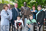 The OLeary family at the unveiling of the Johnny OLeary monument in Kenmare Place, Killarney, last Saturday. Seated l-r: David and Brian. Back: Maureen, Seanie, Minister John ODonoghue, Ellen and Lil. .
