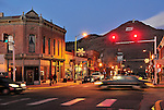 F Street is the heart of downtown Sailda, CO. Michael Brands for The New York Times.