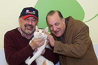 Photo shoot for PressBox's Mr. Basement sponsored Pet of the Month ad.