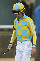 HOT SPRINGS, AR - APRIL 15: Jockey Julien Leparoux before the Arkansas Derby at Oaklawn Park on April 15, 2017 in Hot Springs, Arkansas. (Photo by Justin Manning/Eclipse Sportswire/Getty Images)