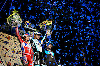 E3 Prijs Harelbeke 2012.podium: Oscar Freire, Tom Boonen & Bernie Eisel
