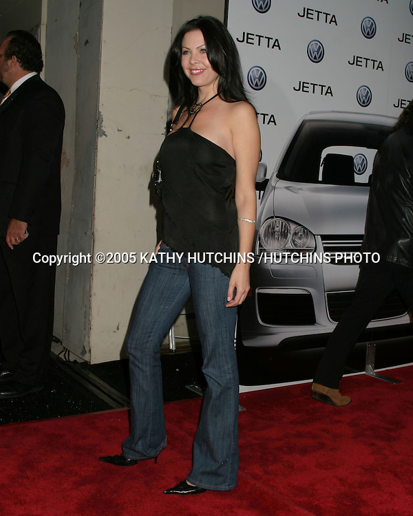 ©2005 KATHY HUTCHINS /HUTCHINS PHOTO.Premiere of the 2005 VOLKSWAGEN JETTA.THE LOT.LOS ANGELES, CA.JANUARY 5, 2005..CHRISTA CAMPBELL