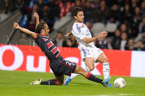 20.10.2013. Lyon, France. French League 1 football match between Lyon and Bordeaux.   Clement Grenier (lyon) vs Marc Planus (bordeaux)