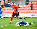 :: DUNDEE UTD'S DAVID GOODWILLIE CELEBRATES AFTER HE SCORES UNITED'S THIRD :: .23/04/2011   Copyright  Pic : James Stewart.sct_jsp006_dundee_utd_v_kilmarnock .James Stewart Photography 19 Carronlea Drive, Falkirk. FK2 8DN      Vat Reg No. 607 6932 25.Telephone      : +44 (0)1324 570291 .Mobile              : +44 (0)7721 416997.E-mail  :  jim@jspa.co.uk.If you require further information then contact Jim Stewart on any of the numbers above.........