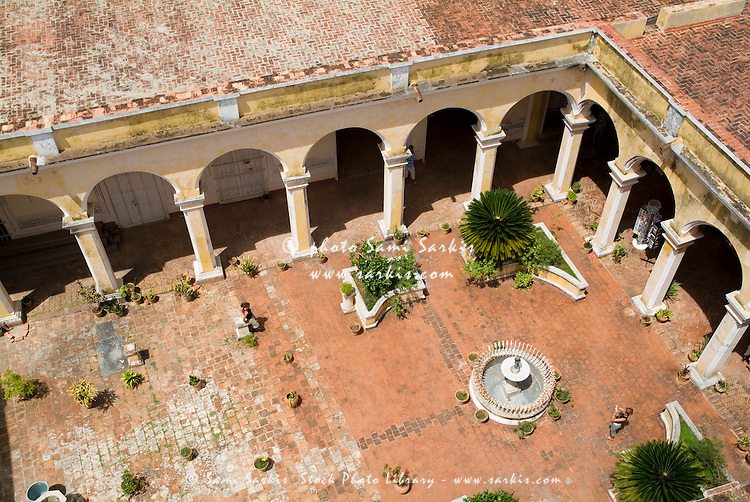 Courtyard inside the Museum of Colonial Architecture (Museo de Arquitectura Colonial), Trinidad, Sancti Spiritus, Cuba.