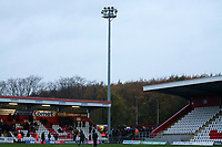 The floodlights fail during the half-time interval during Stevenage vs Peterborough United, Emirates FA Cup Football at the Lamex Stadium on 9th November 2019