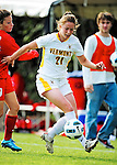 14 October 2010: University of Vermont Catamount defender Heidi Hassler, a Senior from Westford, VT, in action against the University of Hartford Hawks at Centennial Field in Burlington, Vermont. The Hawks defeated the Lady Cats 6-2 in America East play. Mandatory Credit: Ed Wolfstein Photo