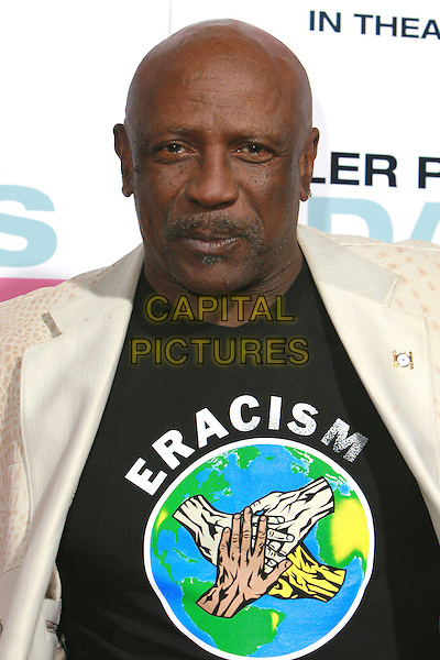 "LOUIS GOSSETT JR..""Daddy's Little Girls"" Los Angeles Premiere held at the Cinerama Dome, Hollywood, California, USA..February 7th, 2007.headshot portrait mustache facial hair eracism tee shirt logo.CAP/ADM/CH.©Charles Harris/AdMedia/Capital Pictures"