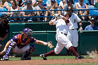 Arizona State's Kole Calhoun in Game 4 of the NCAA Division One Men's College World Series on Monday June 21st, 2010 at Johnny Rosenblatt Stadium in Omaha, Nebraska.  (Photo by Andrew Woolley / Four Seam Images)