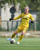 20180804 - ZULTE , BELGIUM : Zulte Waregem's Elke Geeraert pictured during a friendly soccer match between the women teams of Zulte Waregem and Bosdam Beveren  , during the preparation of the 2018-2019 season, Saturday 4 August 2018 . PHOTO DIRK VUYLSTEKE / SPORTPIX.BE