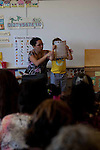 The first classes complete kindergarten at Melrose Leadership Academy's dual immersion Spanish bilingual program in Oakland, California.