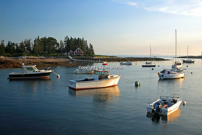 View at Newagen, Southport, Maine, USA