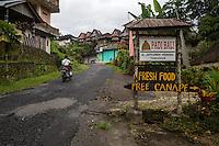 Entrance to Jatiluwih Village, Bali, Indonesia.