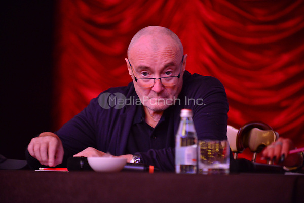 MIAMI BEACH, FL - OCTOBER 18: Phil Collins attends the Little Dreams Foundation Gala Press Conference at Faena Hotel on October 18, 2017 in Miami Beach, Florida. Credit: MPI10 / MediaPunch