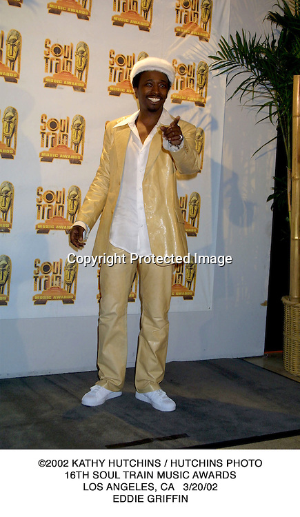 ©2002 KATHY HUTCHINS / HUTCHINS PHOTO.16TH SOUL TRAIN MUSIC AWARDS.LOS ANGELES, CA   3/20/02.EDDIE GRIFFIN